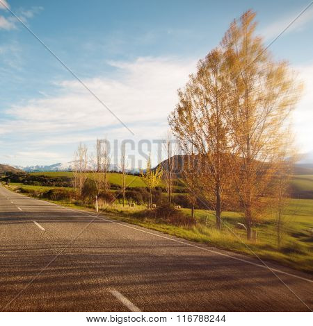Way Tranquil Scenes Roadway Destination Concept