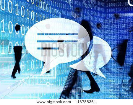 Speech Bubble Chat Communication Message Social Concept