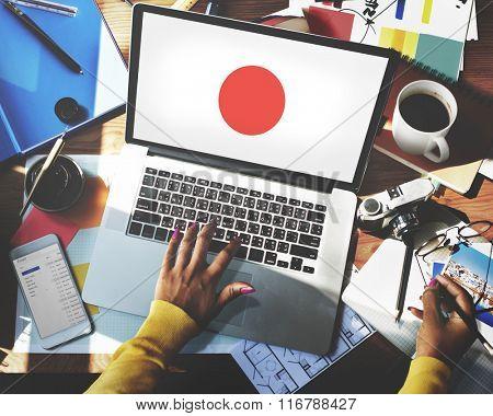 Japan Flag Patriotism Japanese Pride Unity Concept