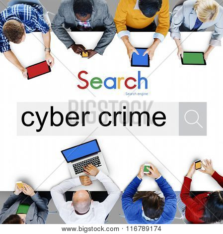 Cyber Crime Technology Illegal Concept