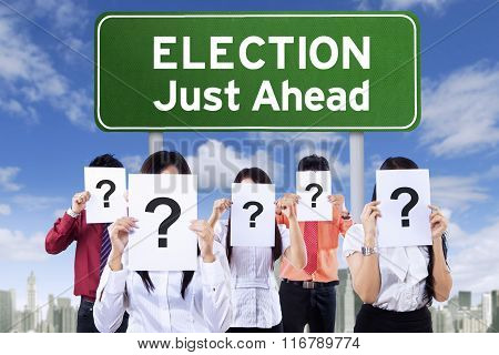 Election Board And Unknown People