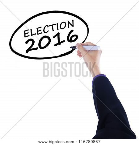 Hand Write A Text Of Election 2016