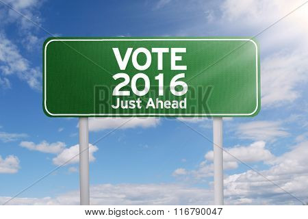 Signpost With Vote 2016 Just Ahead