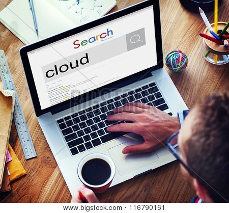 Cloud Storage Data Online Internet Concept
