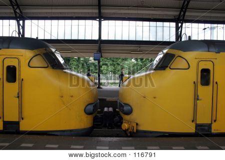 Trains Kissing