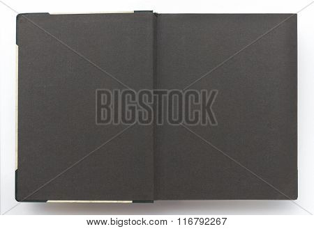 Vintage Photo Album With Blank Pages, Black Paper