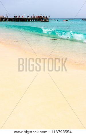 Beach in Santa Maria, Cabo Verde