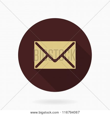 Fine Vector Mail Flat Icon