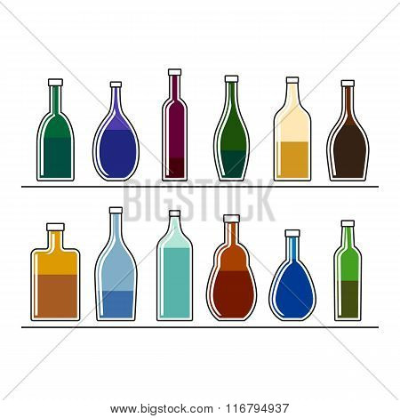 Bottles With Drinks
