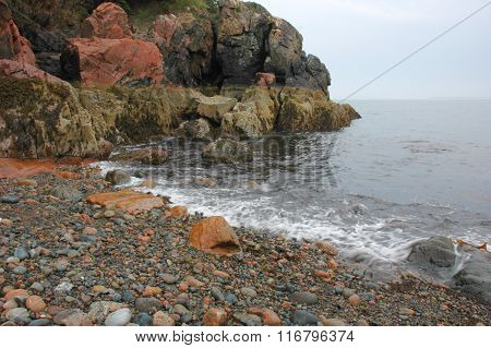 Shoreline of Bar Harbor, Maine