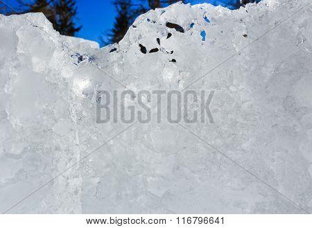 Glacial Ice Block In Sunshine