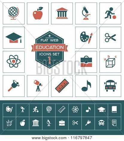 Vector education icons set.Trendy security vector elements.  Modern flat design.