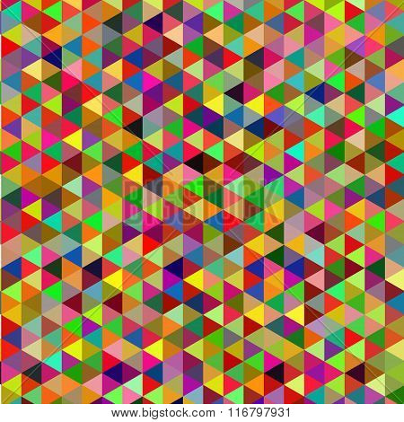 Retro pattern of geometric shapes. Colorful mosaic backdrop. Geometric hipster retro background