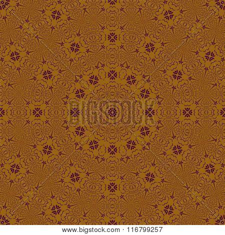 Seamless ornament gold purple