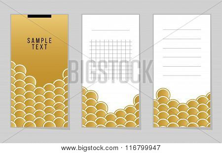 Collection Of Gold Fish Or Snake Scales Notebook