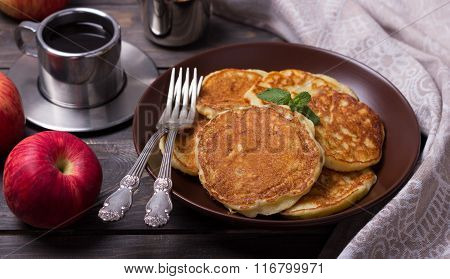 Cottage Cheese Pancake With Apples