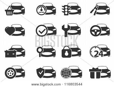 Car service icons set