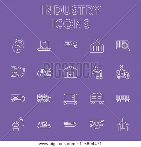 Industry icon set.