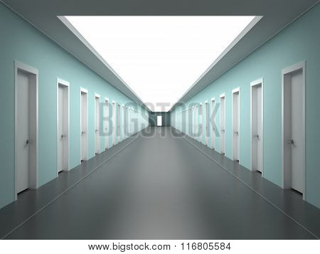 Endless Corridors Of The Building