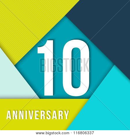 10 Year Anniversary Material Design Template