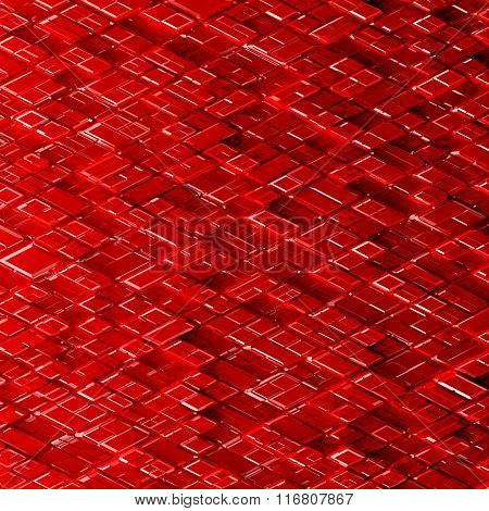 Abstract sci-fi image of rhombs pattern background.