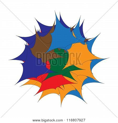 Spirograph Abstract Vector Art