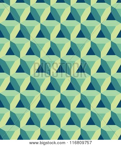 Vector modern seamless colorful geometry prism pattern color abstract