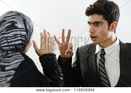 Arabic couple in social issue