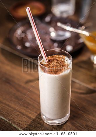 Delicious milkshake nutritious protein for breakfast