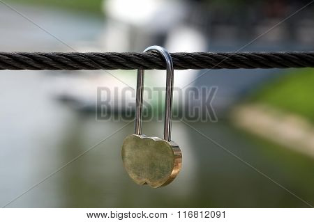 Wedding Castle Hanging On A Metal Rope