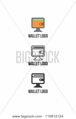Finance services logotype or icon with wallet