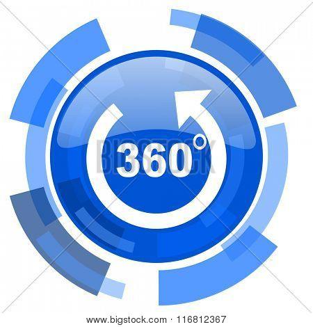 panorama blue glossy circle modern web icon