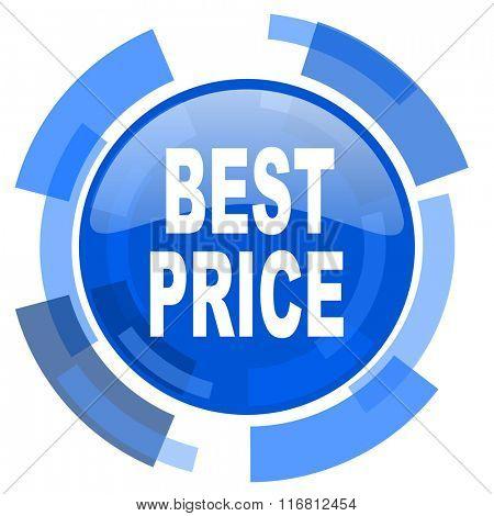 best price blue glossy circle modern web icon
