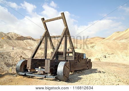 Ancient Wooden Catapult