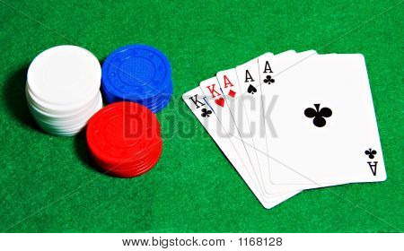 Poker Hand And Chips