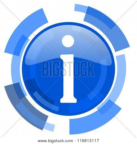 information blue glossy circle modern web icon