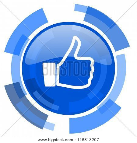 like blue glossy circle modern web icon