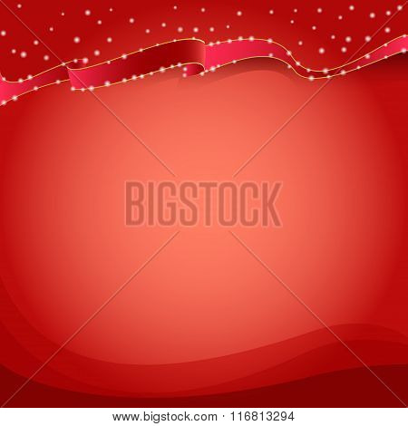 Red background with sparkles
