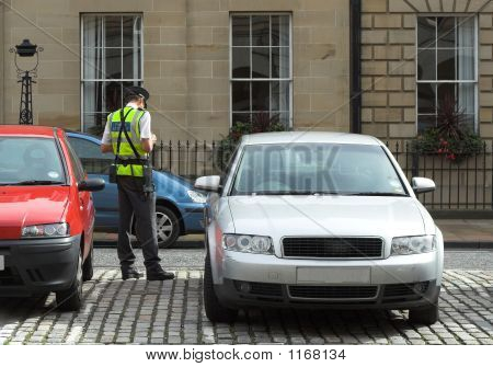 Parking Attendant, Traffic Warden, Getting Ticket Fine Mandate