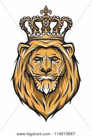 Lion with a crown. Color version.