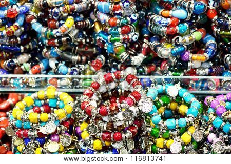 Colorful gem bracelets