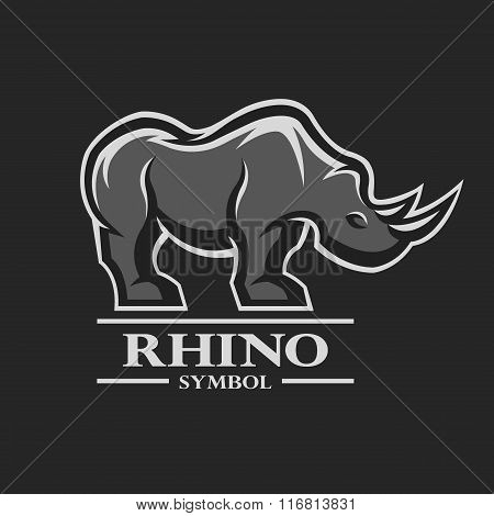 Rhino symbol, logo, and other design.
