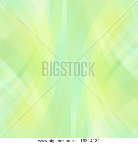 Colorful Smooth Light Lines Background. Green, Yellow Colors. Vector Illustration.
