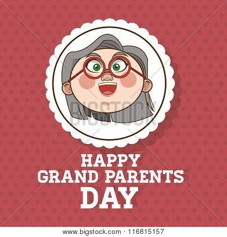 Grandparents design, people vector