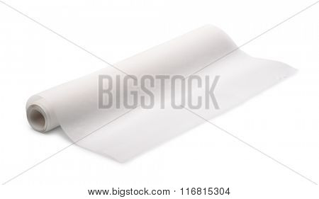 Tracing paper roll isolated on white