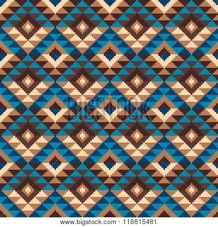 Tribal Aztec Style Seamless Geometric Pattern. Vector Illustration