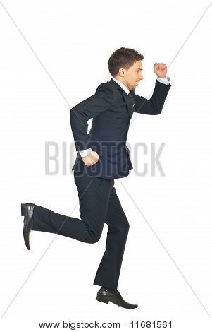 Business Man Running Away