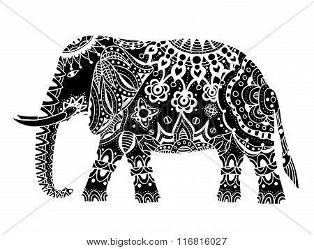 Black Indian Elephant.