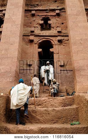 Ethiopians Of Orthodox Faith In Lalibela