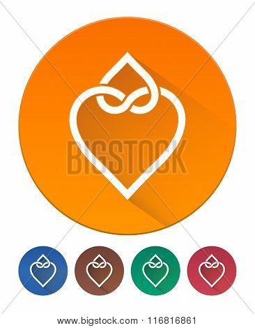 Hearts Icon Flat